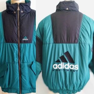 Vintage 90s Adidas Equipment Puffer Jacket L